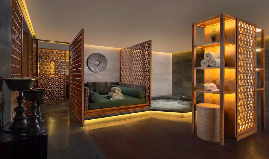 Luxury relaxation lounge at The Spa at The Legian Bali resort - one of the best spas in Bali, Indonesia