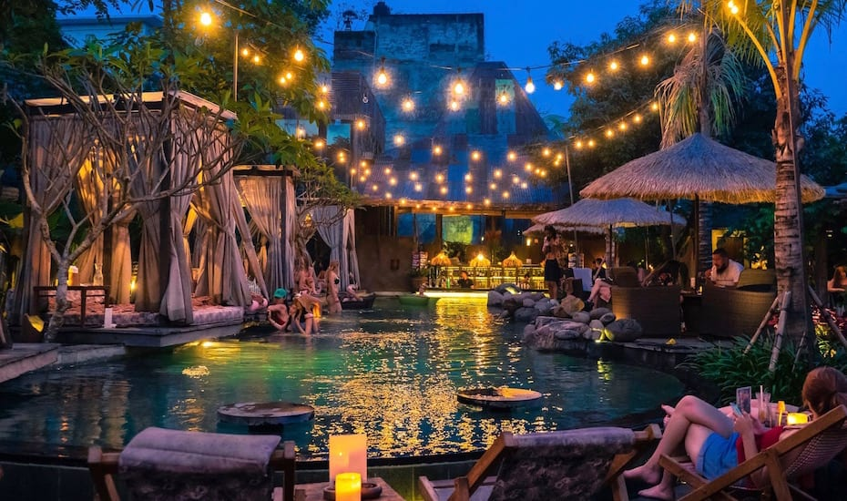 New Year's Eve in Bali - Folk Pool & Gardens