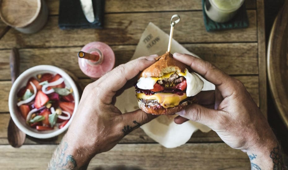 Burgers and breakfast at The Slow in Canggu, Bali