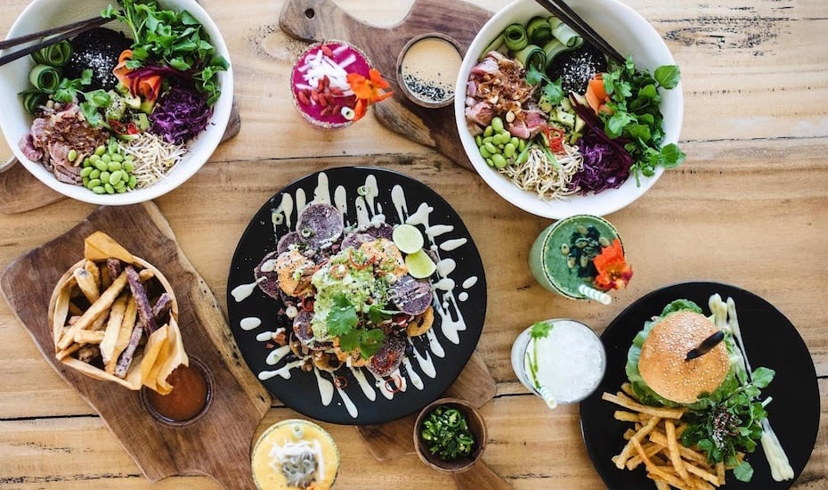 Healthy food at Two Trees Eatery in Canggu, Bali