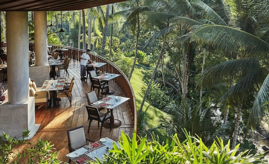 Fancy dining at the #1 Resort in the World? Direct your dinner plans to Ayung Terrace