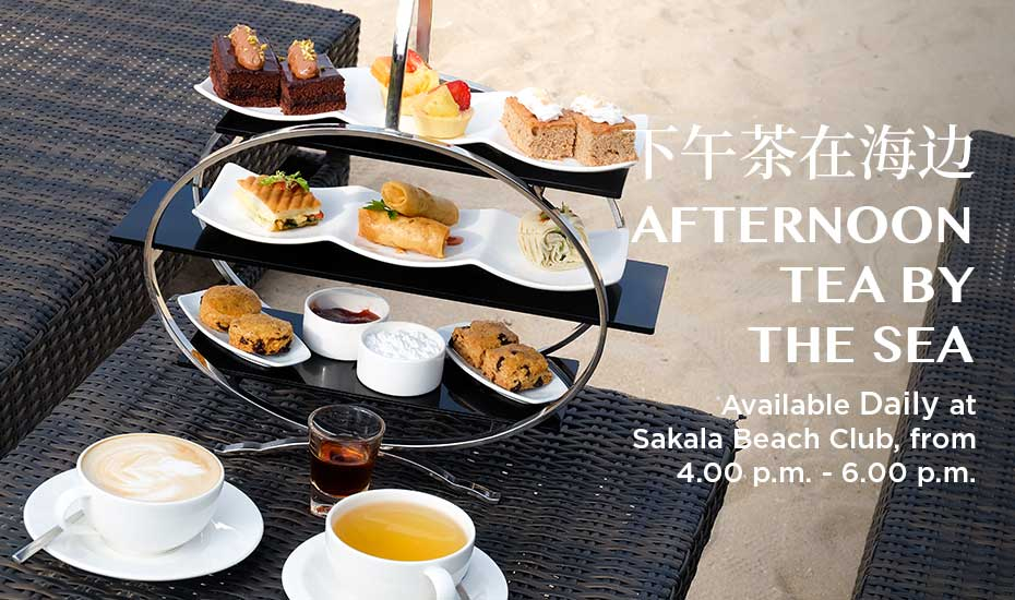 AFTERNOON TEA BY THE SEA AT SAKALA BEACH CLUB