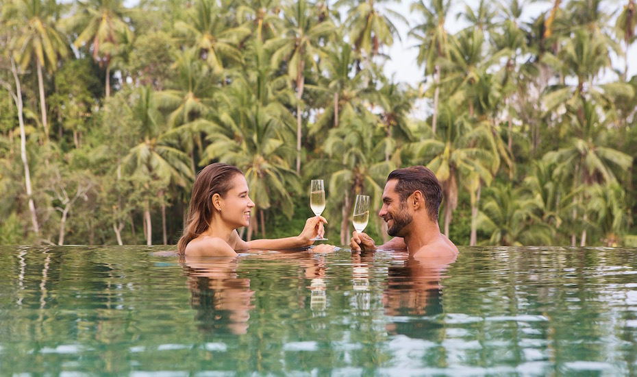 Pool bar at Viceroy   Valentine's Day in Bali