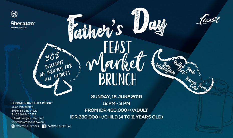 Father's Day Brunch at Sheraton Bali Kuta Resort