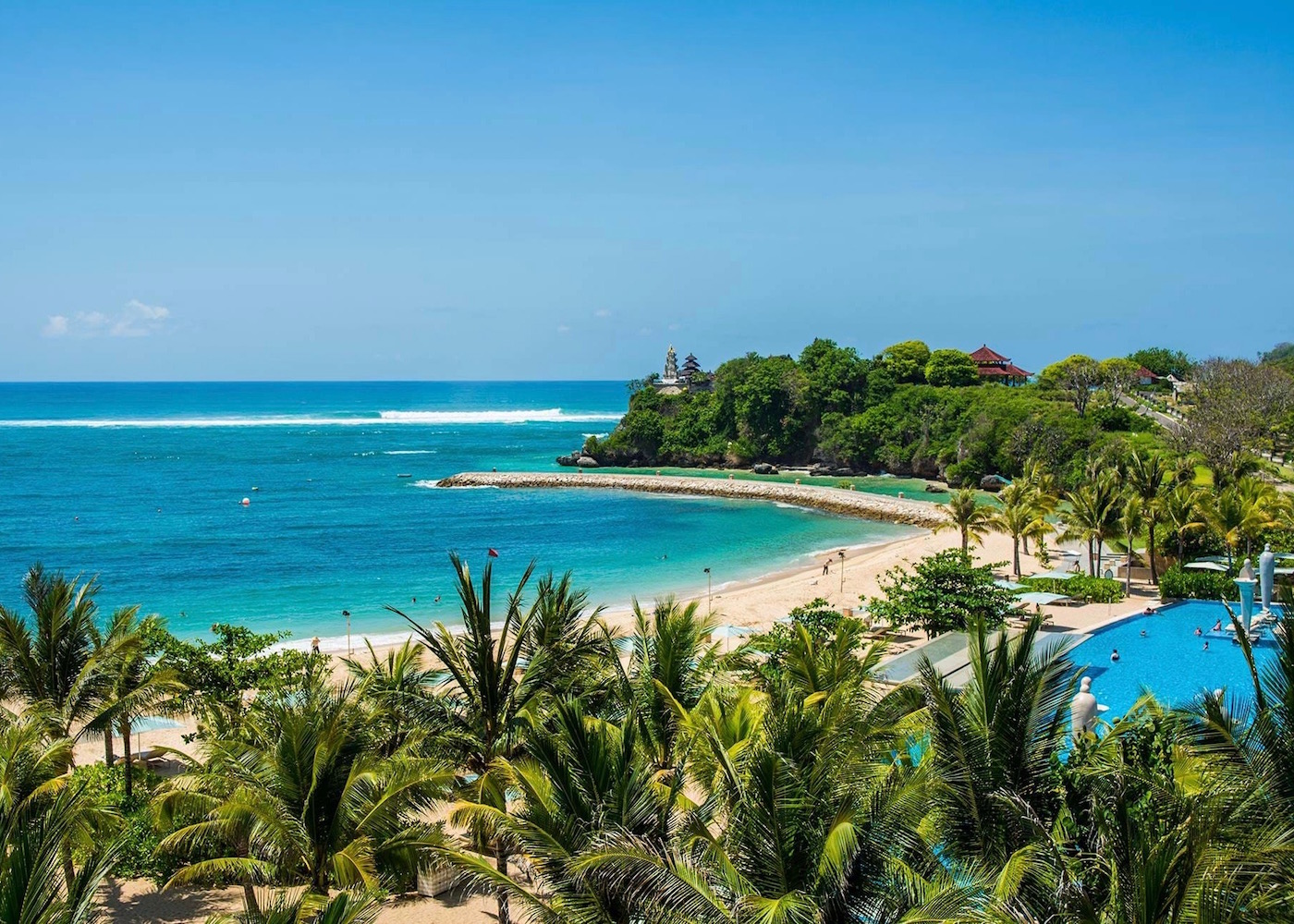 Nusa Dua's blue sea and white sand - one of Bali's best beaches