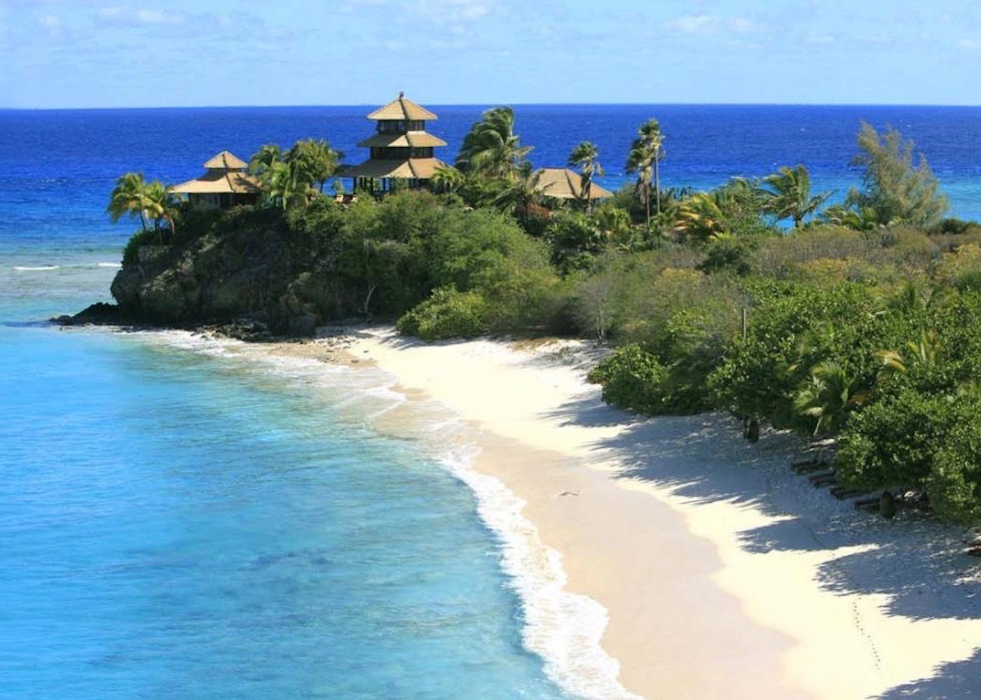View of Pantai Pasir Beach on the East Coast of Bali, Indonesia
