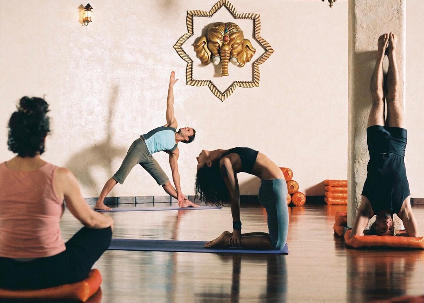 Yogis at Prana yoga studio in Seminyak, Bali, Indonesia