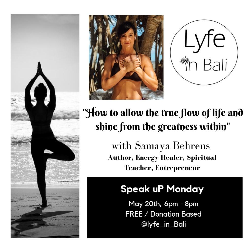 SPEAK uP Monday #4 [FREE] feat Samaya Behrens