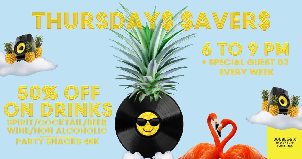 Thursday$ $aver$ 50% OFF on Drinks