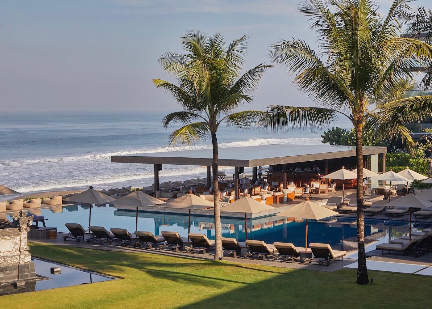 The Beach Bar at Alila Seminyak in Bali, Indonesia