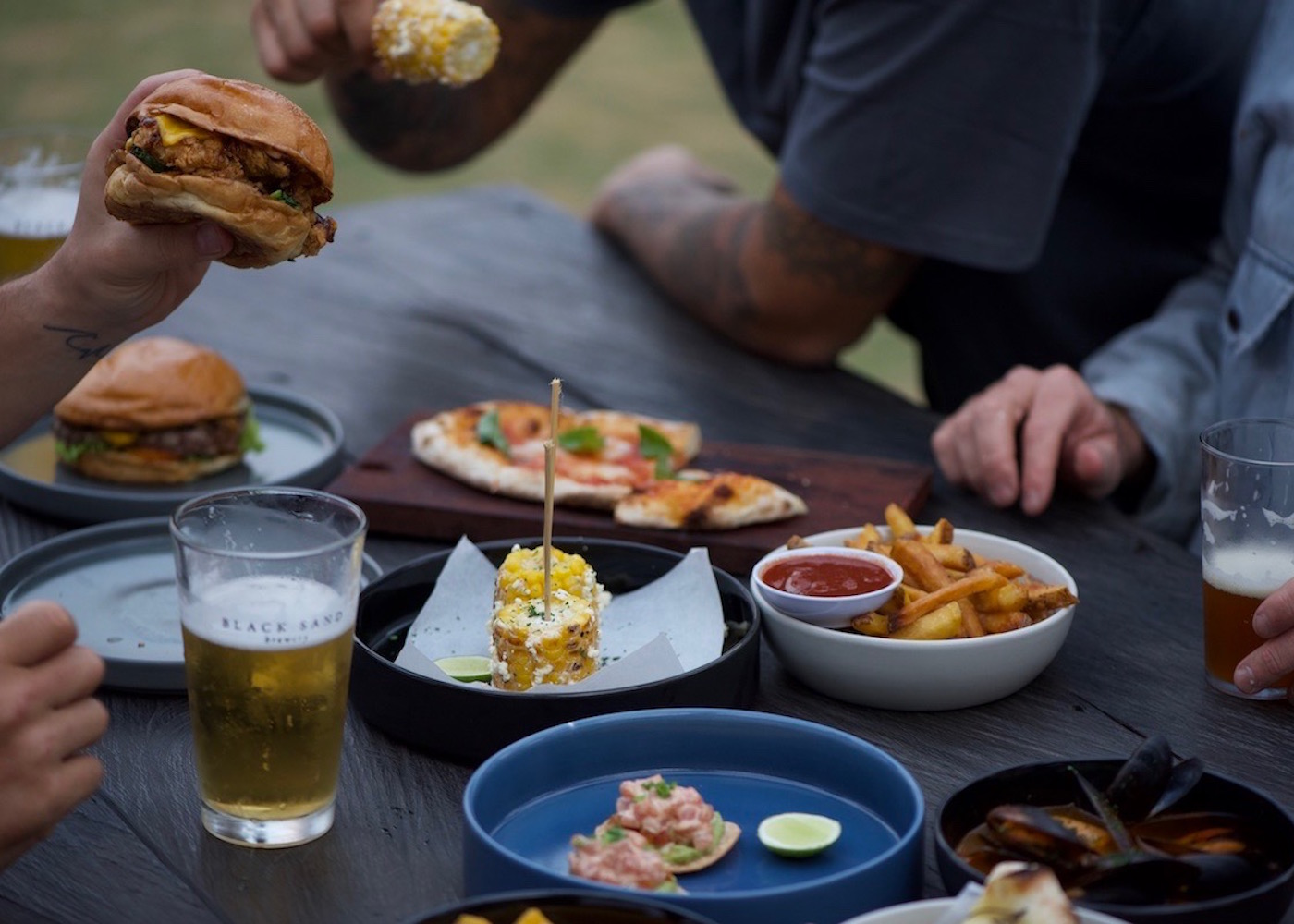 Craft beer and good food at Black Sand Brewery - a new bar and restaurant in Canggu, Bali, Indonesia
