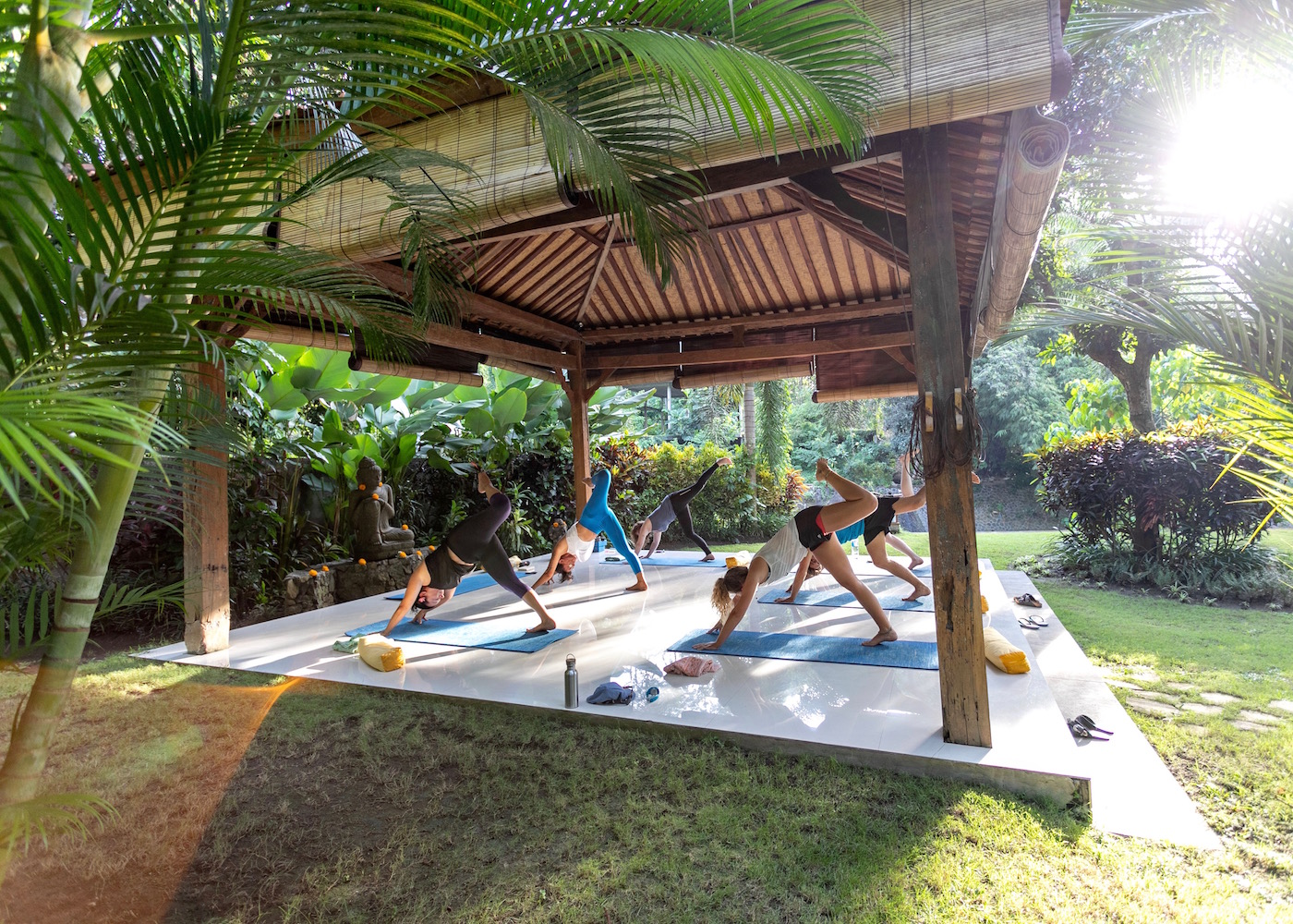 Yoga at Pelan Pelan - a surf & wellness retreat in Canggu, Bali, Indonesia