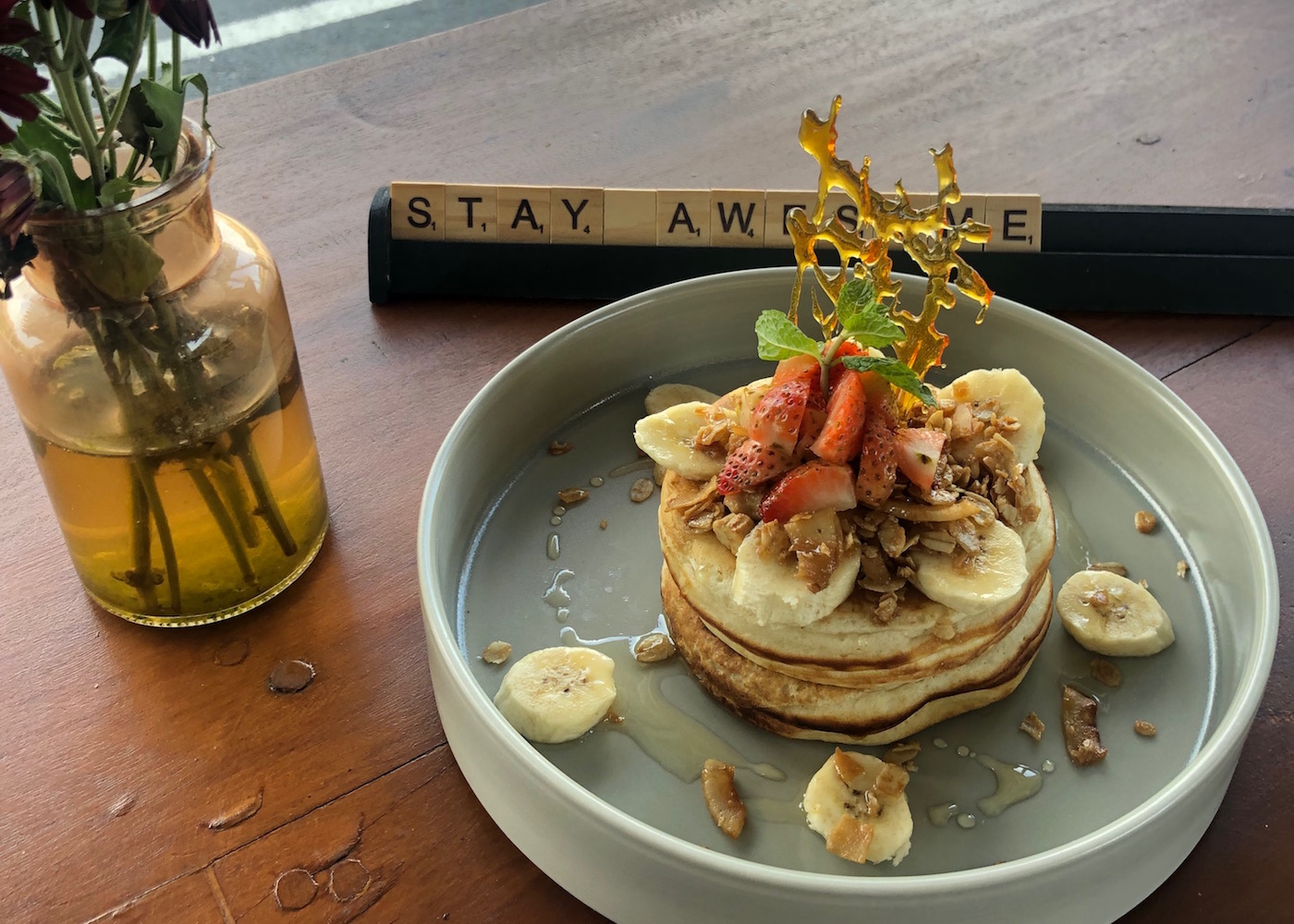 The pancake stack at Ritual Coffee & Eatery