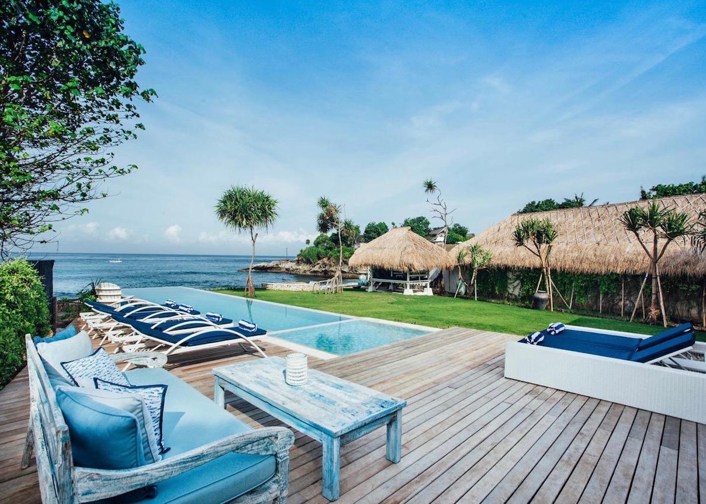 The Beach Shack villa on Nusa Lembongan island in Bali, Indonesia