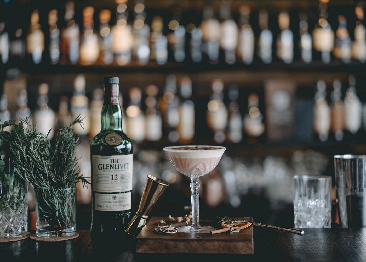 The Howff speakeasy hidden bar on Nusa Lembongan island in Bali, Indonesia