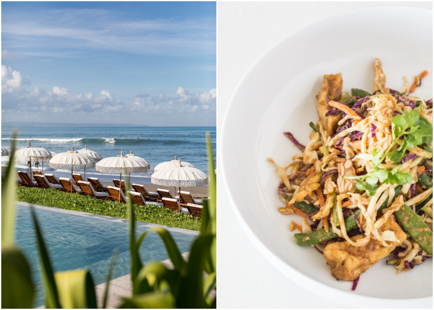 View of The Lawn restaurant & beach club and the signature Gado Gado in Canggu Bali, Indonesia