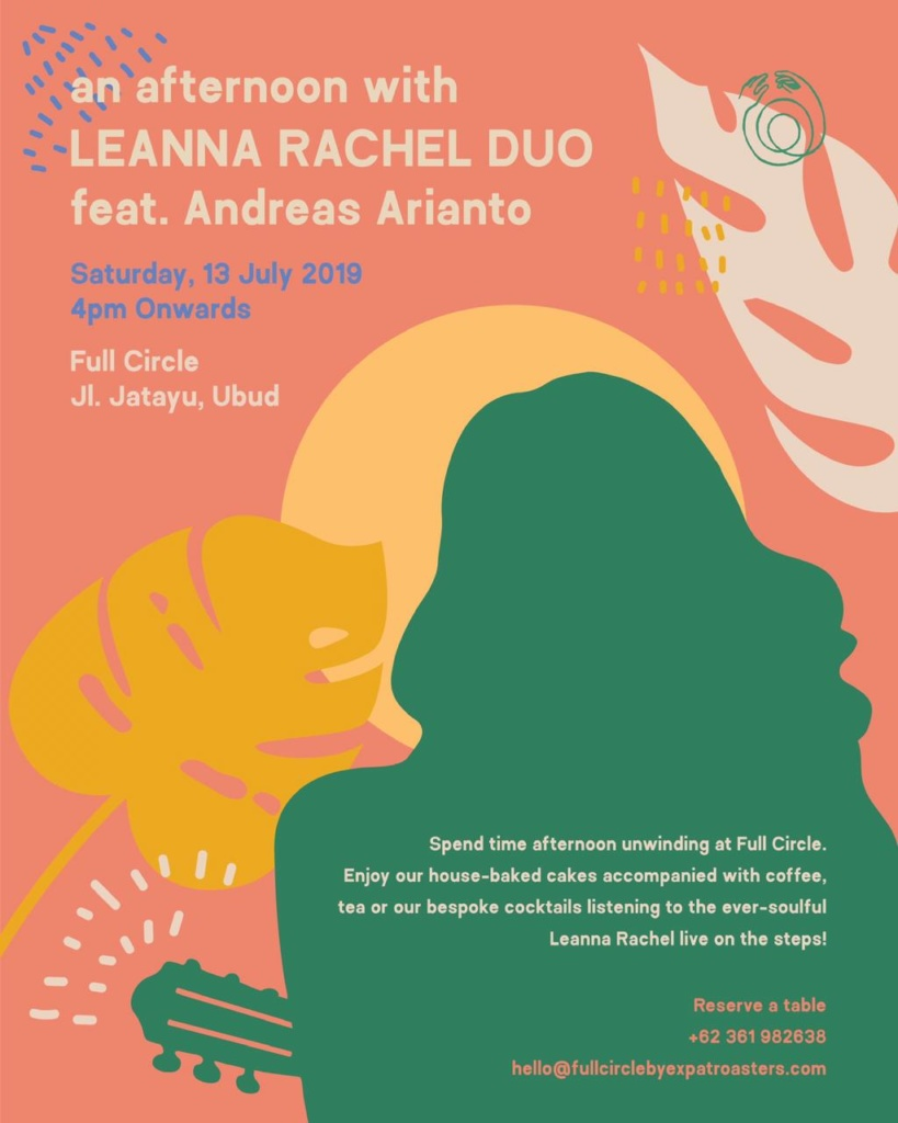 An Afternoon with Leanna Rachel Duo feat. Andreas Arianto in Full Circle, Ubud