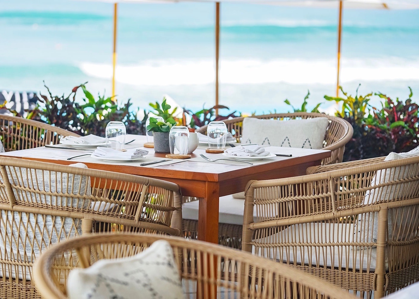St Tropez Beachfront Restaurant at Finns VIP Beach Club in Berawa, Canggu, Bali - Indonesia