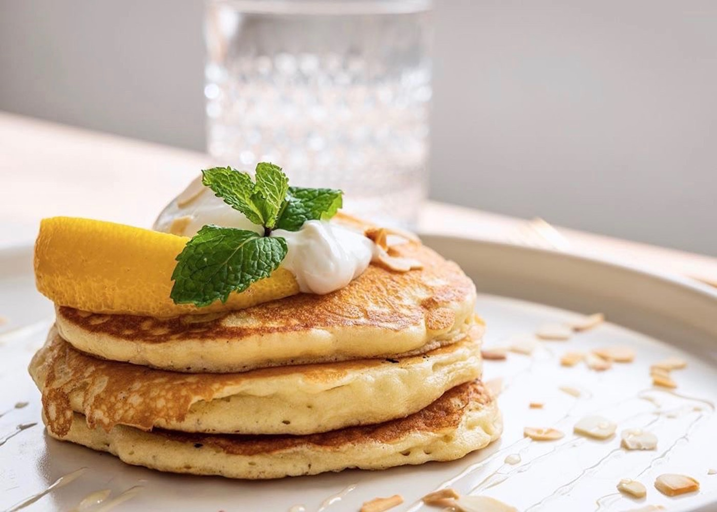 Coconut Hotcakes at Honey Kitchen Cafe & Restaurant in Pererenan - Canggu, Bali - Indonesia