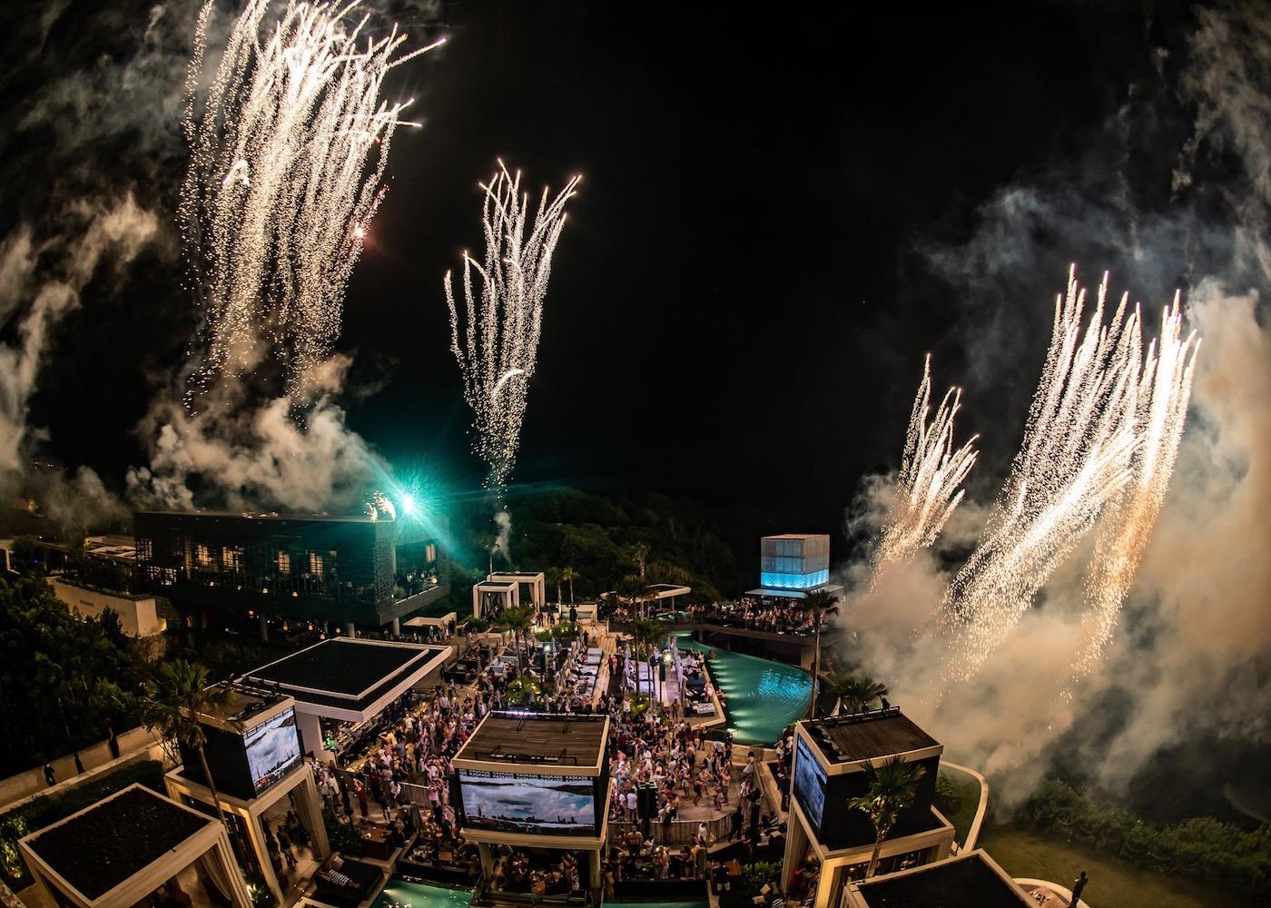 New Year's Eve Party at OMNIA Dayclub in Uluwatu, Bali, Indonesia