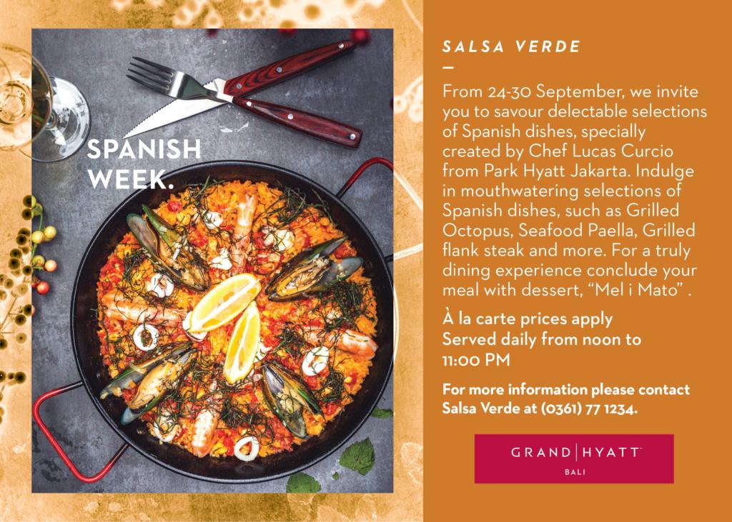 SPANISH WEEK AT SALSA VERDE