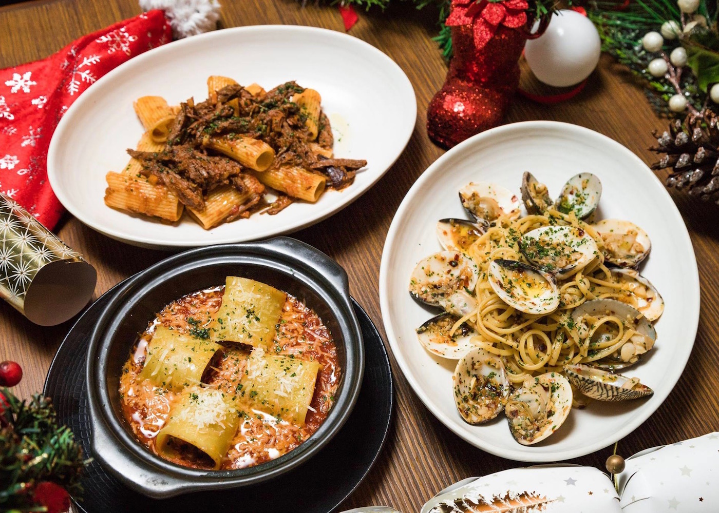 Christmas lunch at Seminyak Italian Food at Double-Six Luxury Hotel in Bali, Indonesia