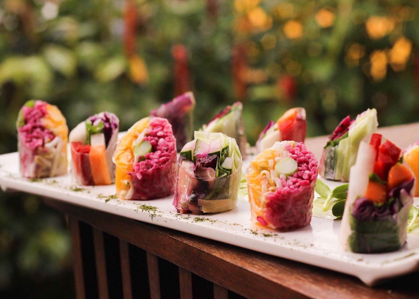Raw Sushi at Beach Garden Organic Kitchen in Canggu, Bali, Indonesia