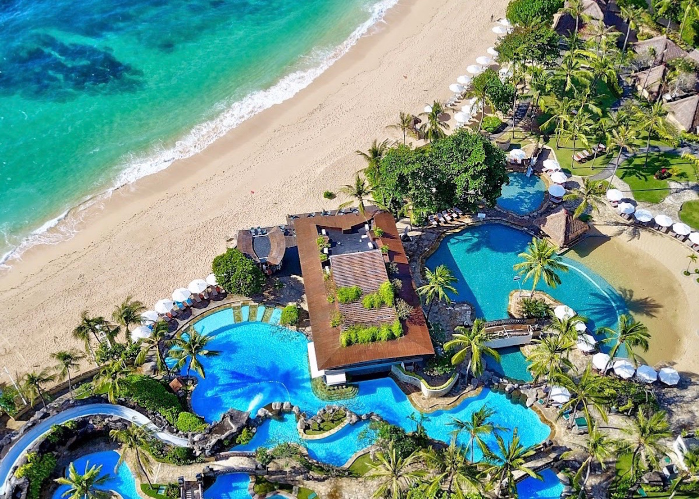 Pool Aerial of Hilton Bali Resort
