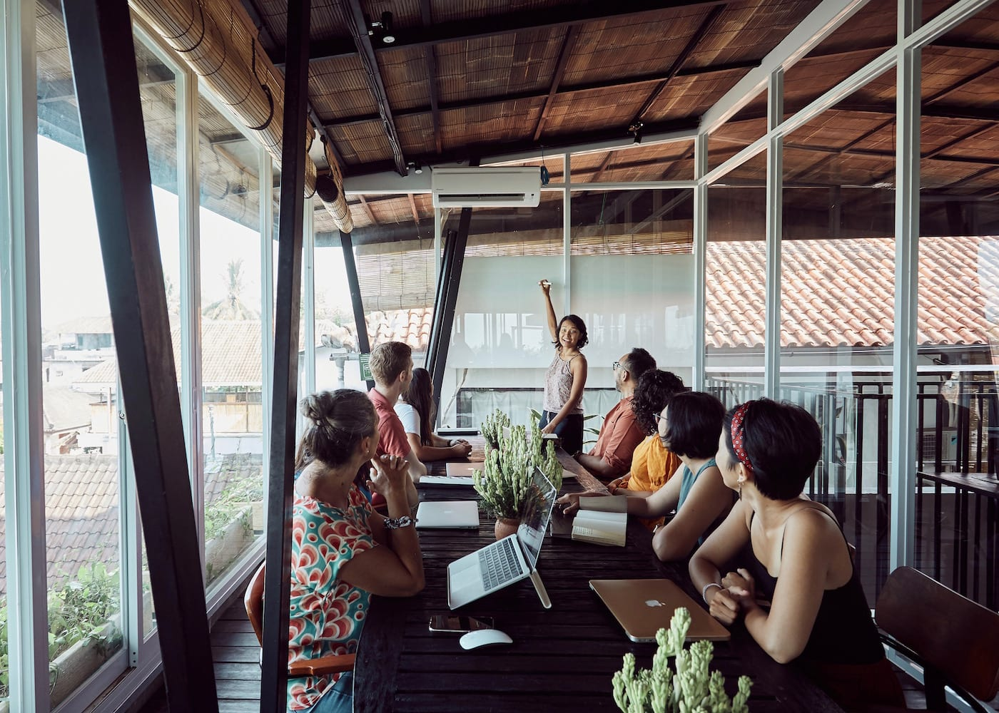 Meeting at Outpost coworking space in Canggu & Ubud in Bali, indonesia