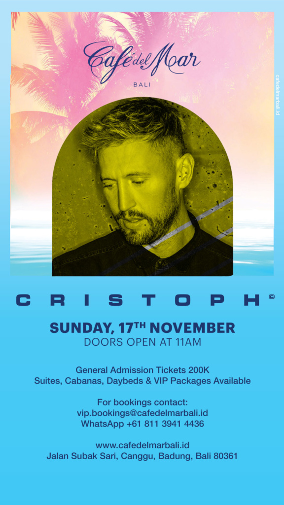 CRISTOPH at Café del Mar Bali