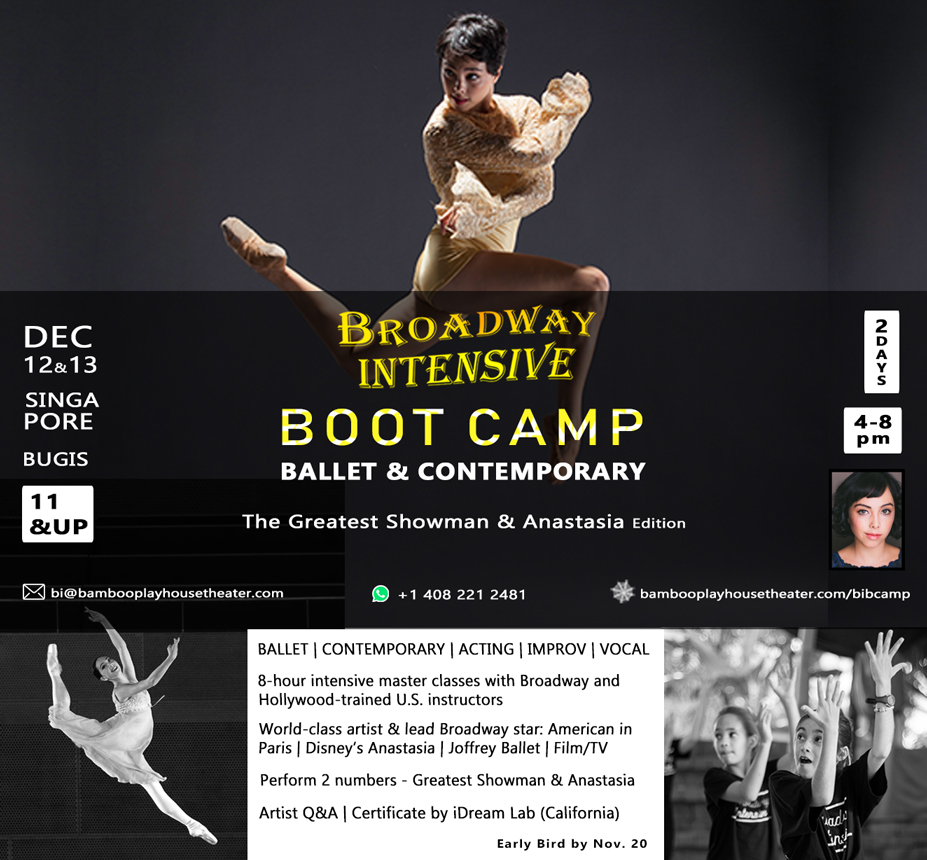Broadway Intensive BOOT CAMP: The Greatest Showman and Anastasia edition with Lead Broadway Star