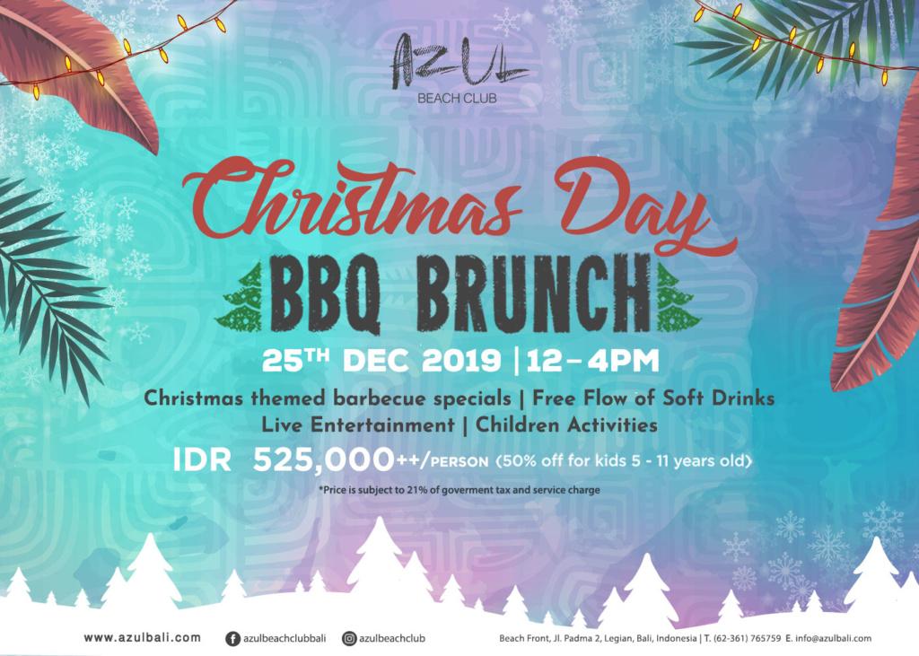 Christmas Day BBQ Brunch at Azul Beach Club