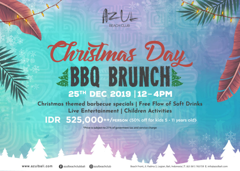 Christmas Day BBQ Brunch at Azul Beach Club
