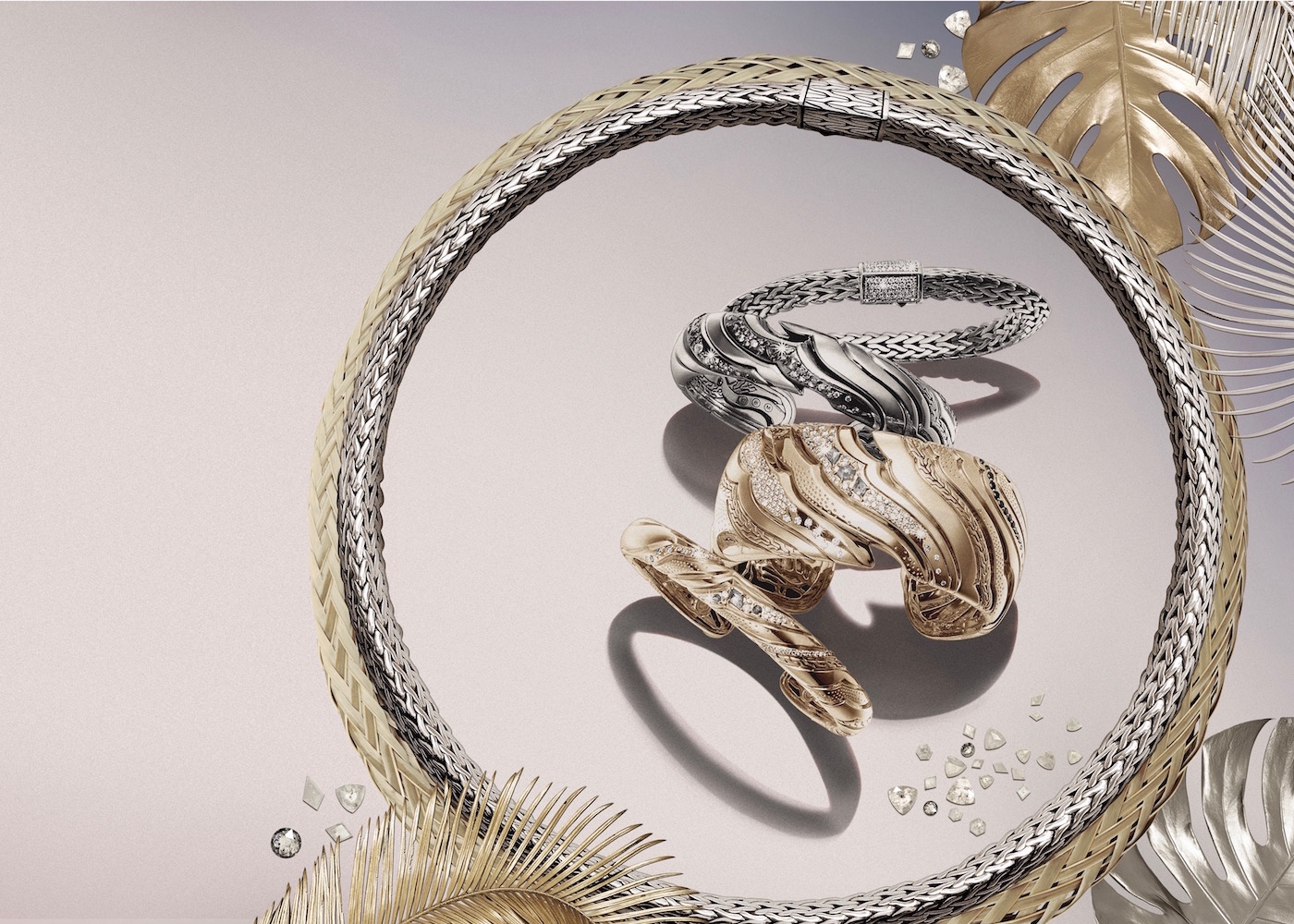 John Hardy gold and silver jewellery