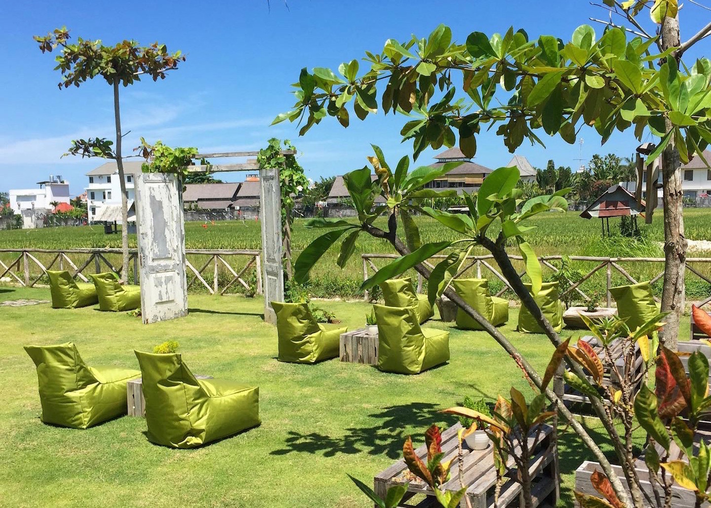 Garden at The Greenhouse - a family-friendly restaurant in Canggu, Bali, Indonesia