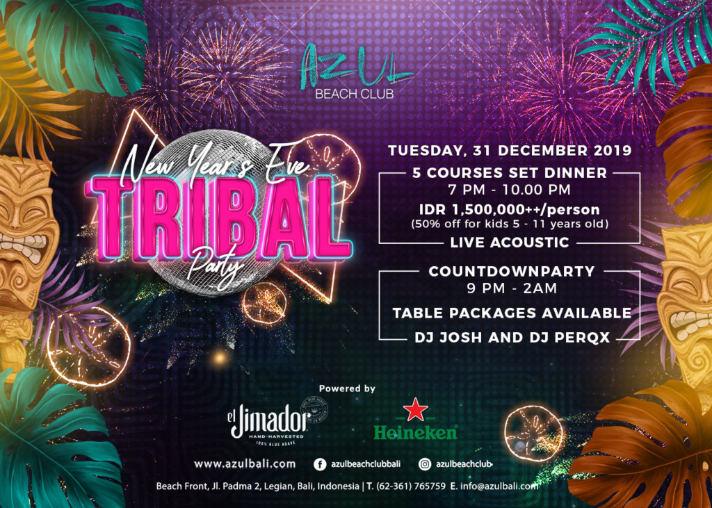 New Year's Eve Tribal Party at Azul Beach Club