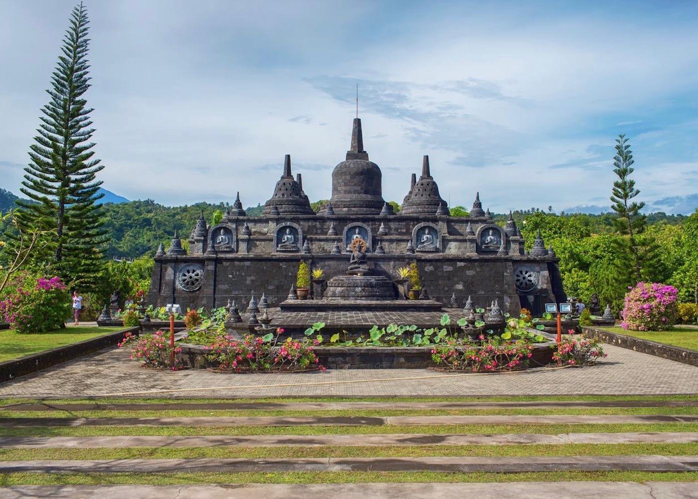 Buddhist Temple in North Bali, Indonesia