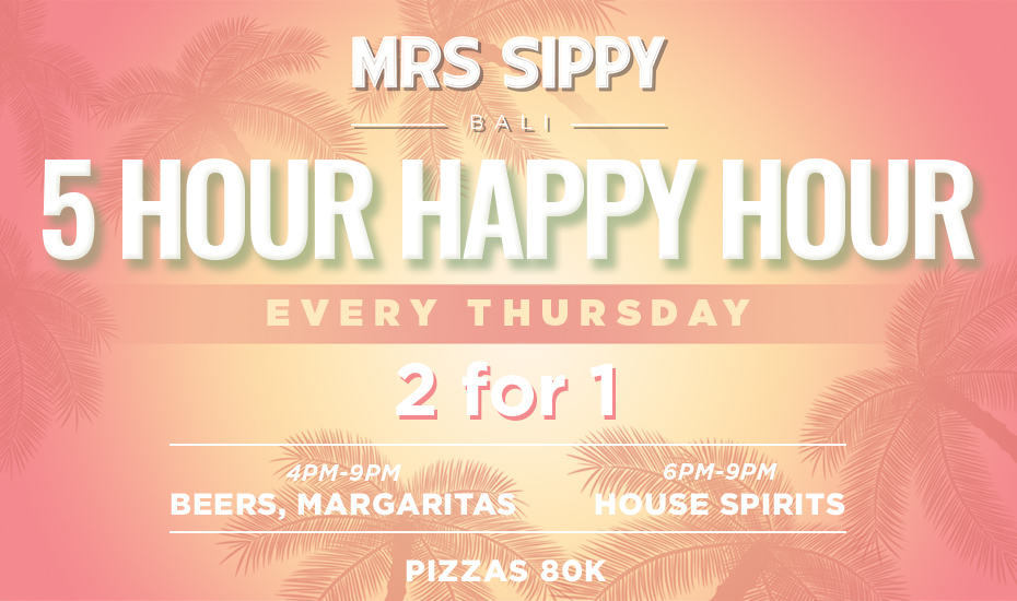 Mrs Sippy presents: Thursday's (5 HOUR HAPPY HOUR)