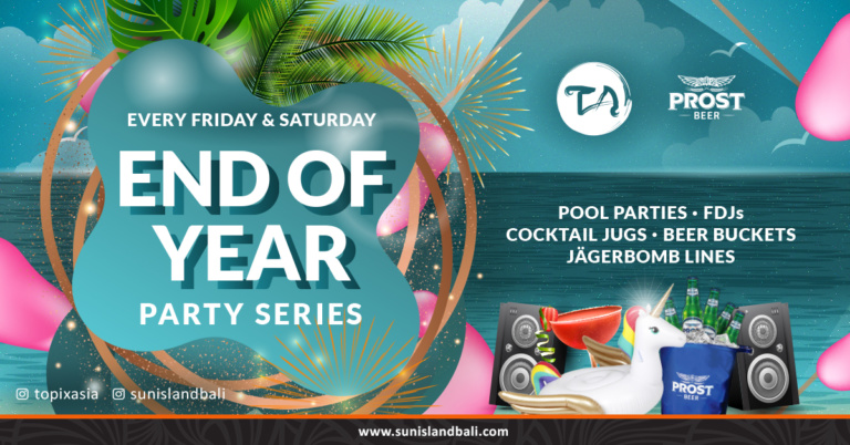 Topix Asia Restaurant & Bar and Sun Island Hotel & Spa Legian End of Year Party Series