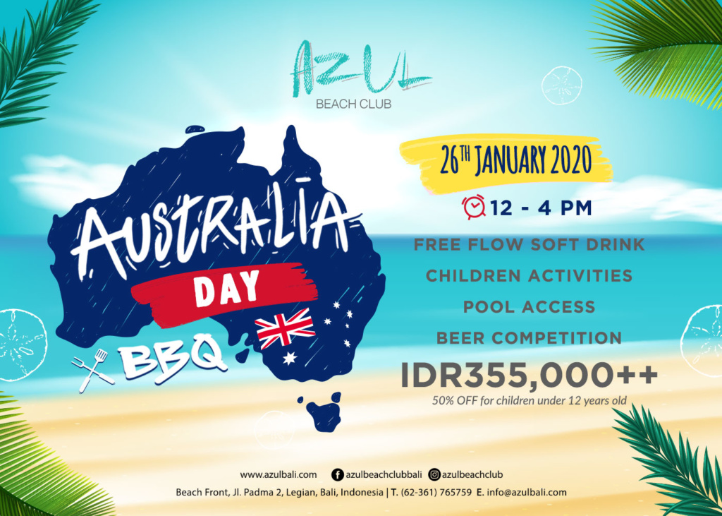 Azul Beach Club's Australia Day