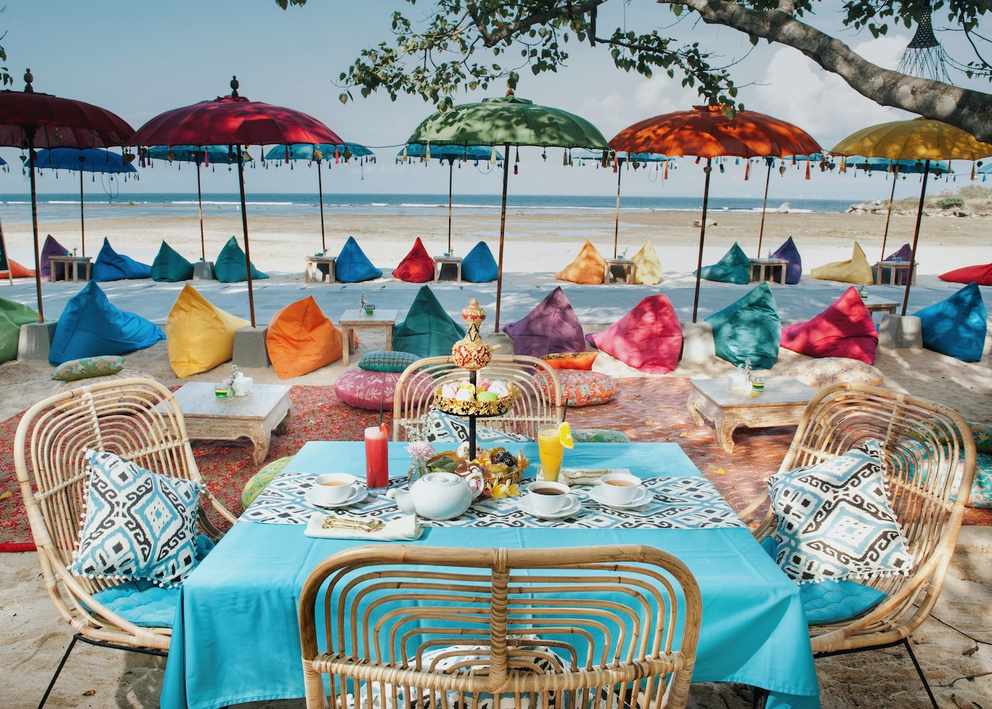 Kekeb Restaurant in Nusa Dua is where you can feast on Balinese favourites by the beach and even in the pool