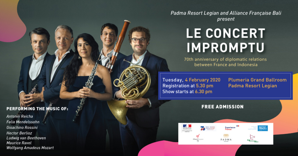 "Padma Resort Legian and Alliance Française Bali present ""Le Concert Impromptu"" Classical Music"