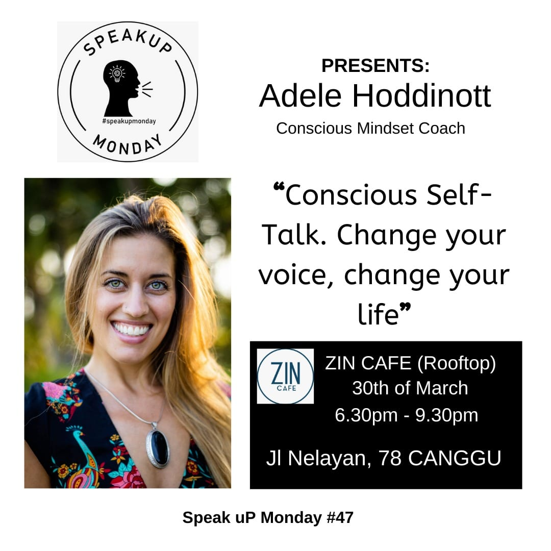 No.48 SpeakuP Monday at ZIN Cafe feat Adele Hoddinott