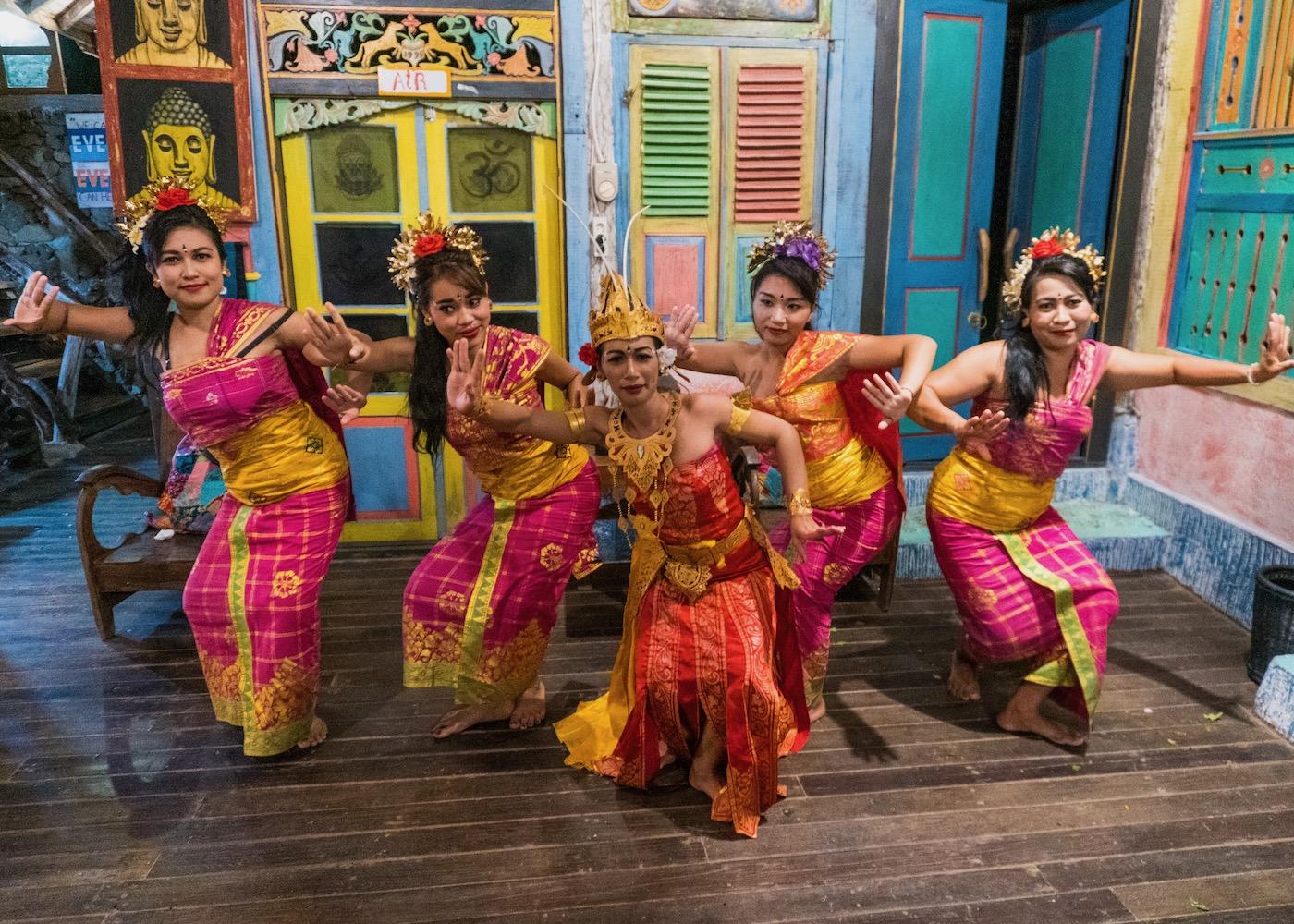 Balinese Dance at Santhika Retreat Centre in Lovina