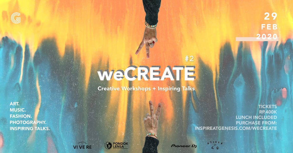 weCREATE #2 by Genesis Creative Centre