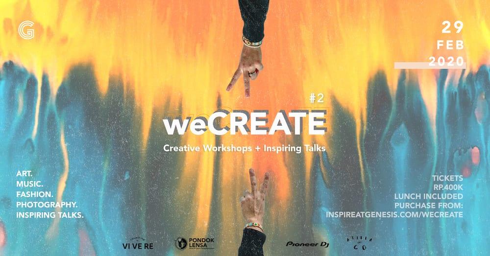 weCREATE #2 by Genesis Creative Centre