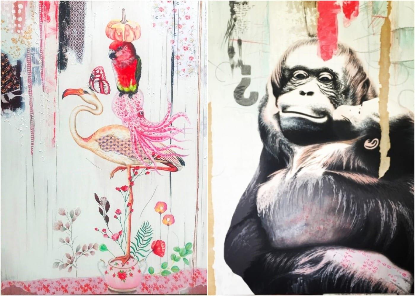 """The Harmony of Things"" & Orangutan"" paintings by Irene Hoff - an artist in Bali, Indonesia"