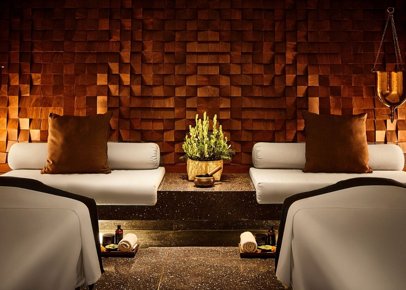 Two massage beds for couples at Spa Alila at Alila Seminyak