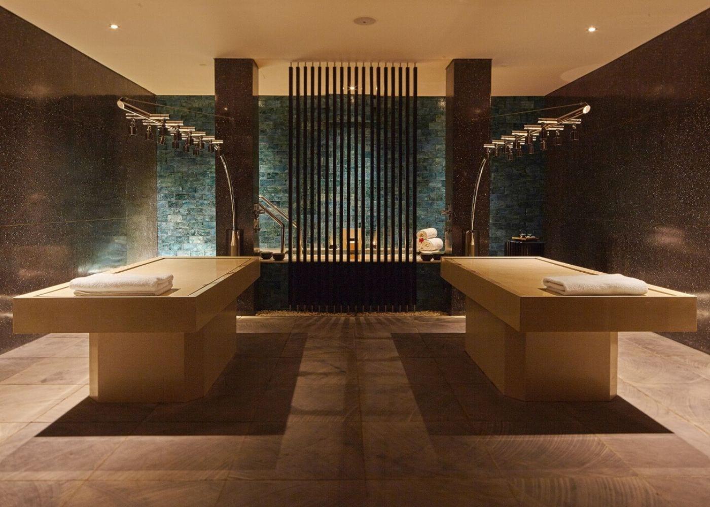 Vichy shower for mineral ritual treatment at Spa Alila at Alila Seminyak