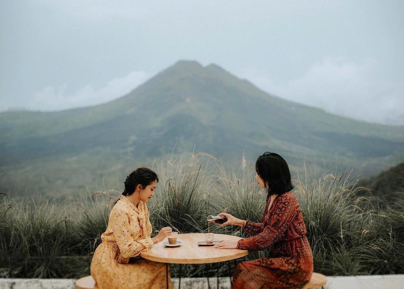 Unique mountain restaurant in Bali